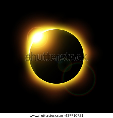 eclipse of the sun and flare