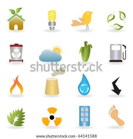 Stock Photo Eco and clean environment buttons