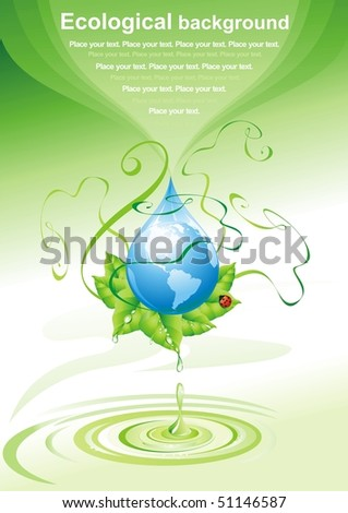 ECO background. Vector illustration.