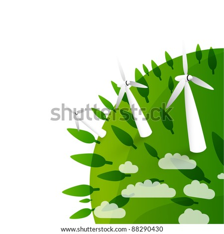 eco background - wind energy - wind turbines