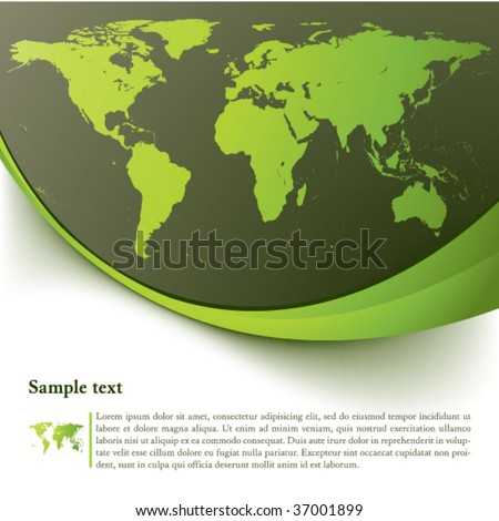 Eco background with earth map series
