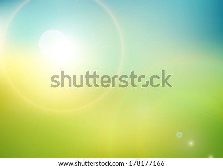 eco background with sunlight