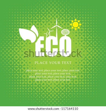eco banner of alternative energy sources