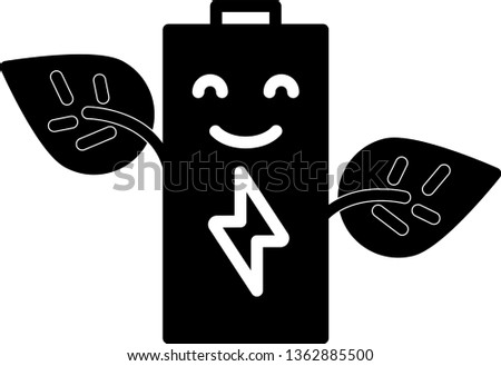 eco battery isolated icon. simple element illustration from general-1 concept icons. eco battery editable logo sign symbol design on white background. can be use for web and mobile