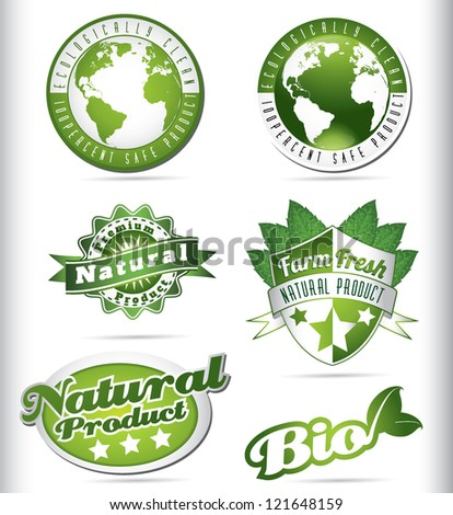 eco bio natural logos