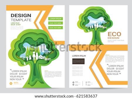 eco brochure design vector