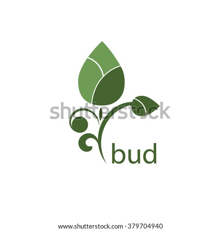 Eco bud. Organic icon. Health symbol. Vector Illustration.