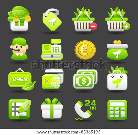 eco,business,shopping,travel icon set | Dark series