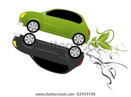 eco car concept vector