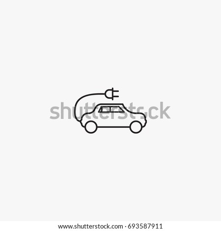 eco car icon vector  can be