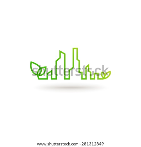 eco city abstract concept