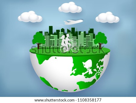 eco city friendly concept