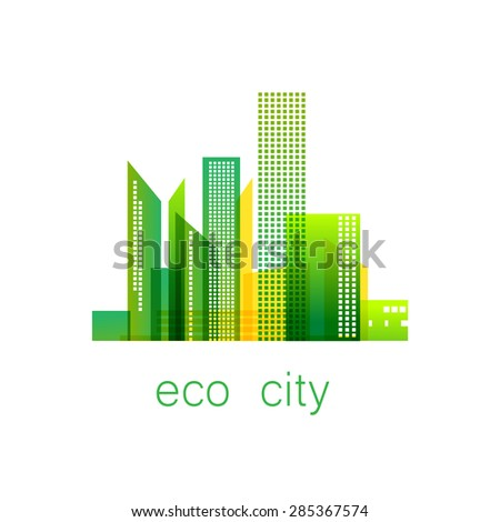 eco city   template logo eco