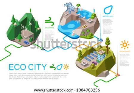 eco city vector illustration