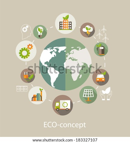 eco concept globe with earth