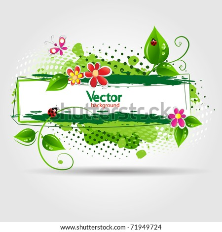 eco design background. Vector illustration