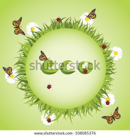 eco earth abstract vector