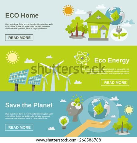 eco energy horizontal banner