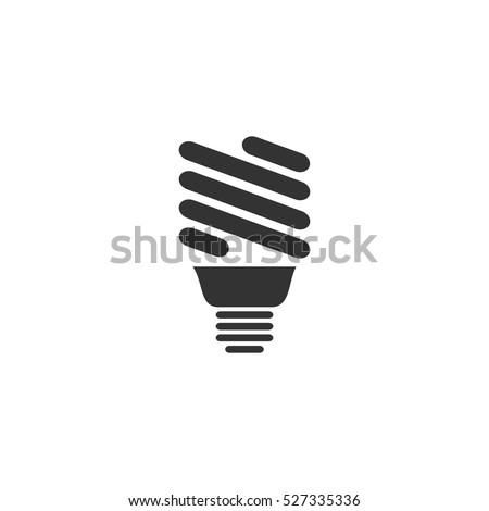 eco energy lamp icon flat....