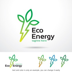 Eco Energy Logo Template Design Vector