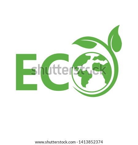 Eco flat vector icon. Ecology flat vector sign. Vector illustration.