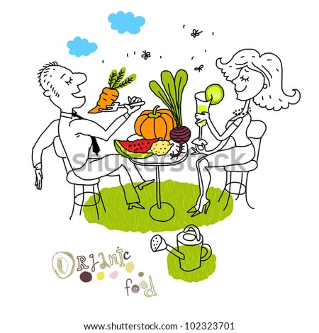 Eat Healthy Food Drawing Eco Food Healthy Lifestyle