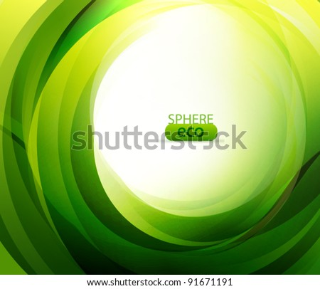 Eco-friendly abstract swirl