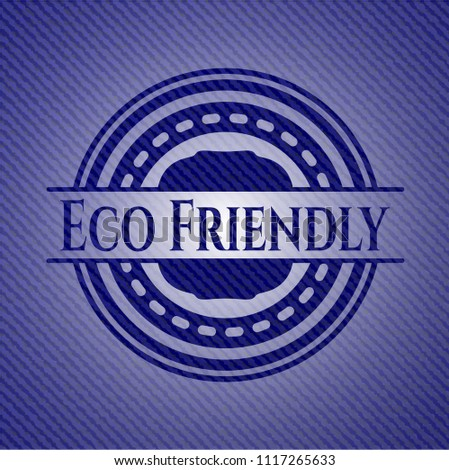 eco friendly badge with jean