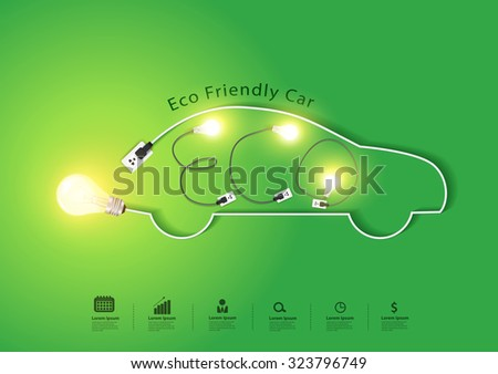 eco friendly car with creative