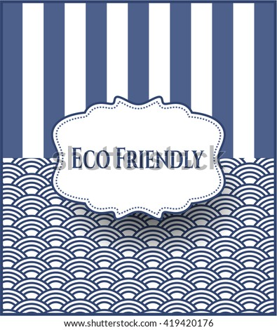 Eco Friendly colorful poster