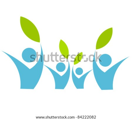 Eco friendly family concept - vector illustration