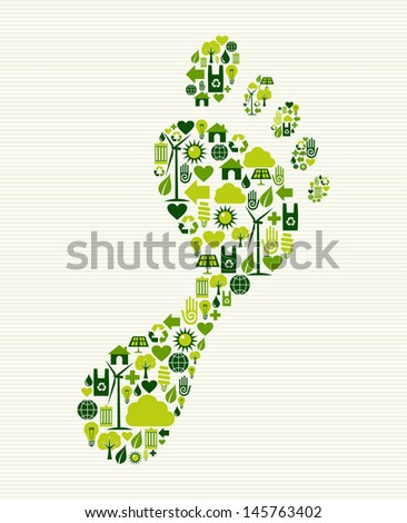 eco friendly foot prints green