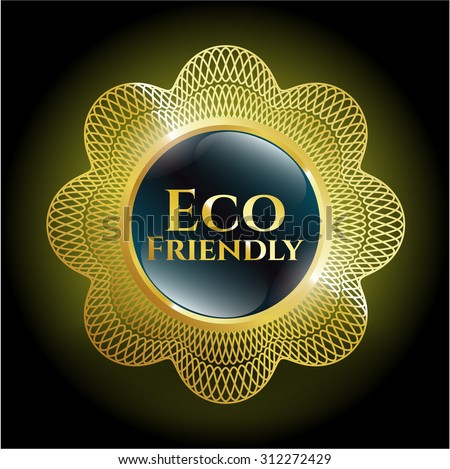 Eco Friendly gold badge