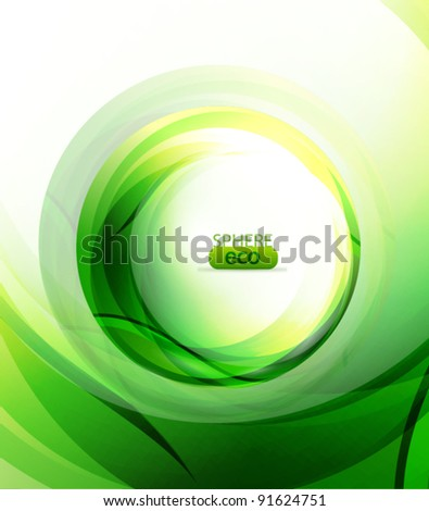 Eco-friendly green sphere abstract background