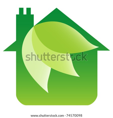 Eco friendly house design   stock vector