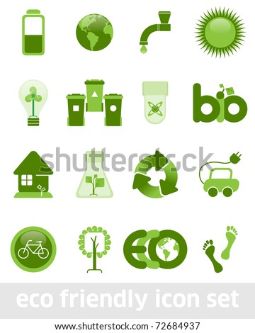 Eco Friendly Icon Set