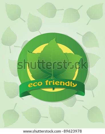 Eco friendly label. Vector