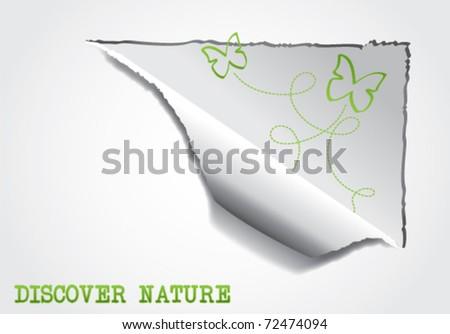 Eco-friendly nature web background vector illustration