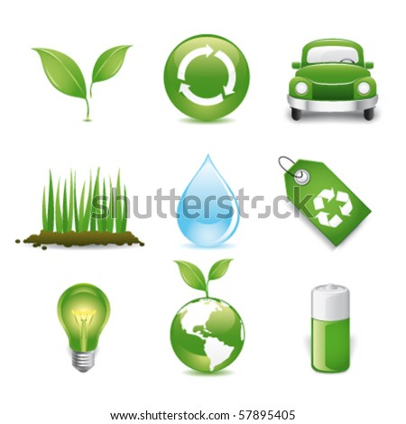 eco friendly premium icons