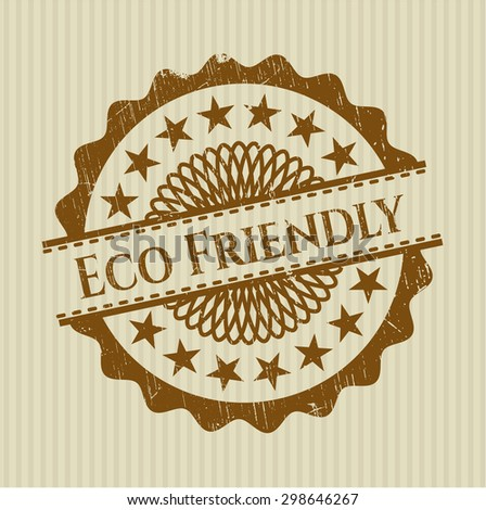 Eco Friendly rubber grunge stamp