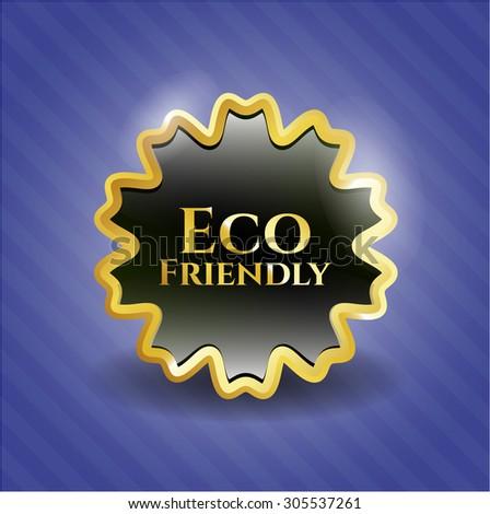 Eco Friendly shiny emblem