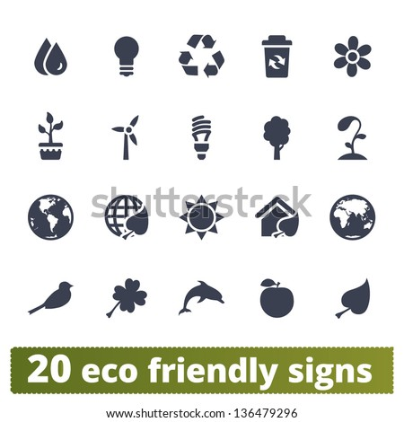 eco friendly signs  vector set