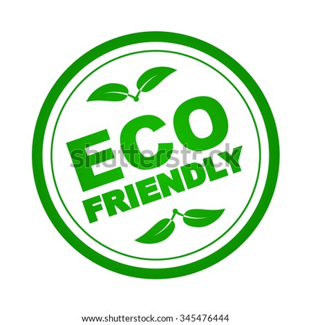 Eco Friendly Stamp & Badge. Vector illustration