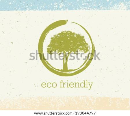 eco friendly tree vector eco