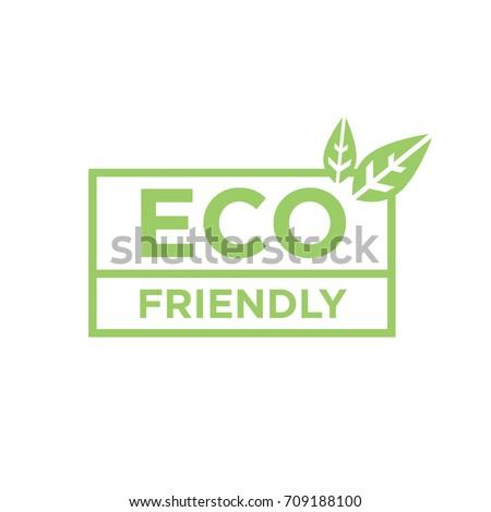 Eco friendly vector logo design