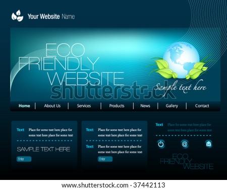 Eco Friendly Website - stock vector