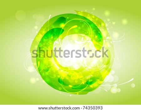Eco green background