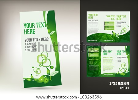 Eco green brochure template
