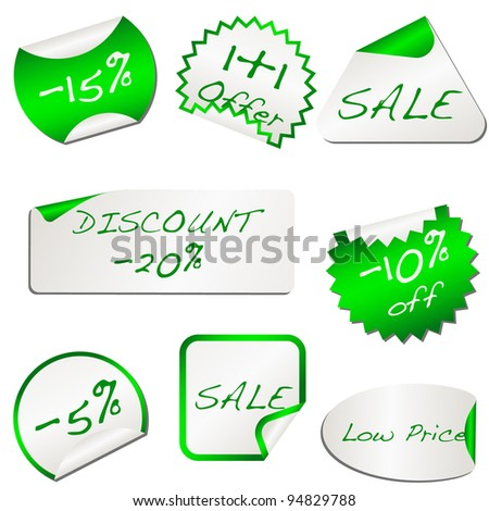 Eco green discount papers. vector