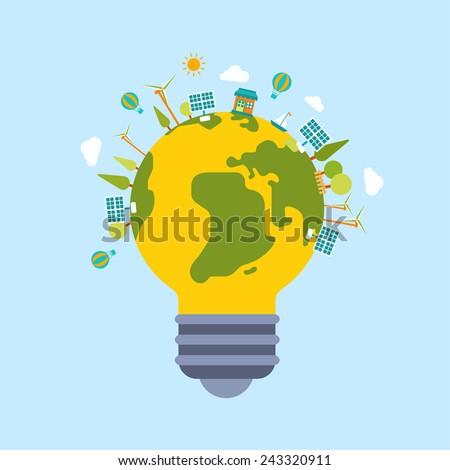 eco green energy lamp lifestyle